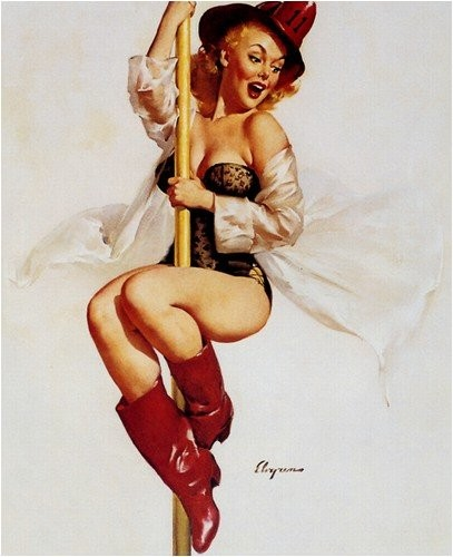 pin up pompier