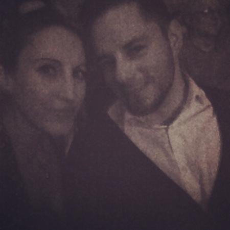 Selfie pour montrer que mon frère et moi avons passé la soirée ensemble.
